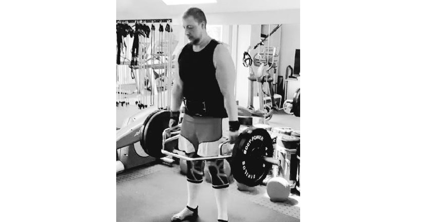 SpecialEffect Adam Forder lifting weights