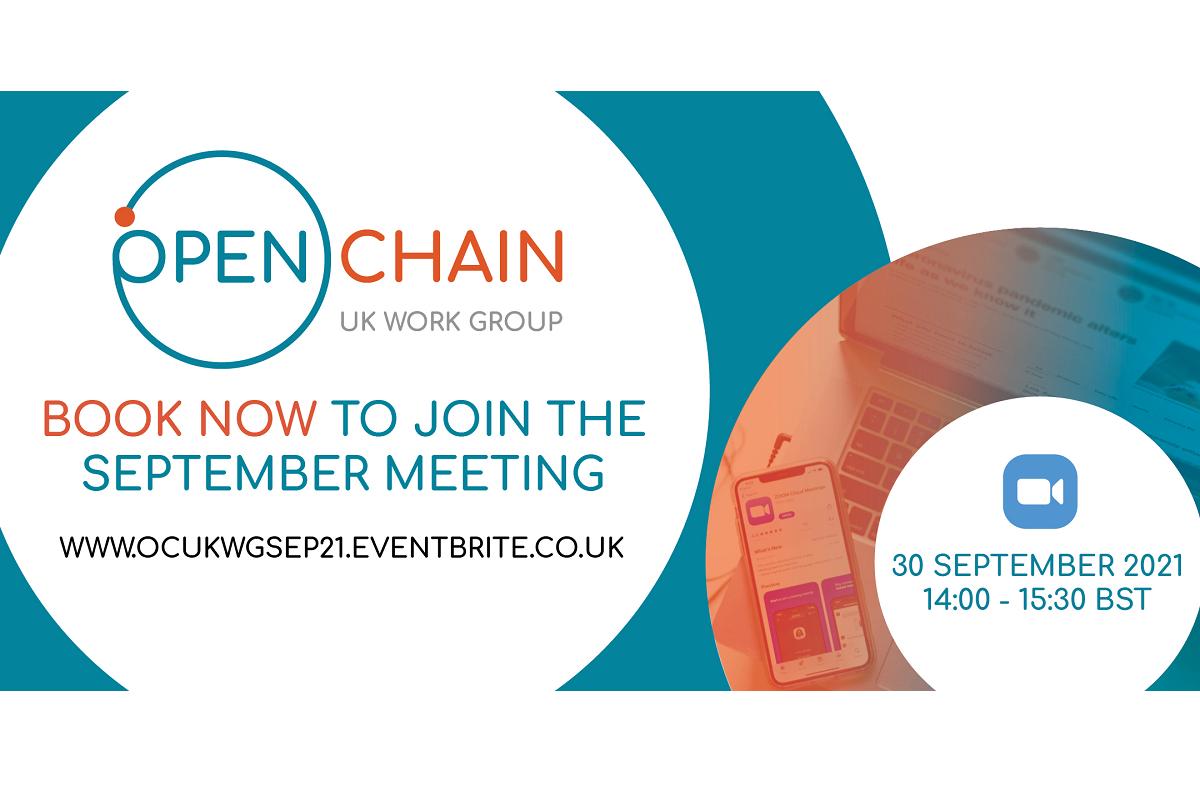 OpenChain UK Work Group's September Meeting